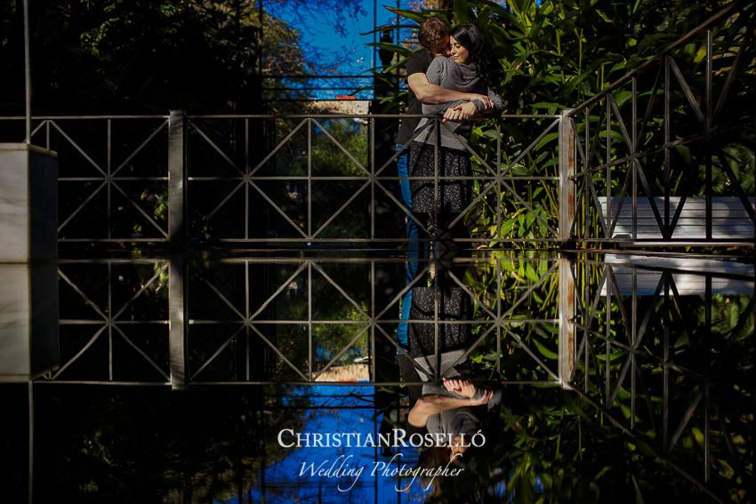 Reportaje Preboda en el Jardín Botánico de Valencia, Rosa y Daniel. Christian Roselló Fotografo de Bodas, con sede en Valencia.