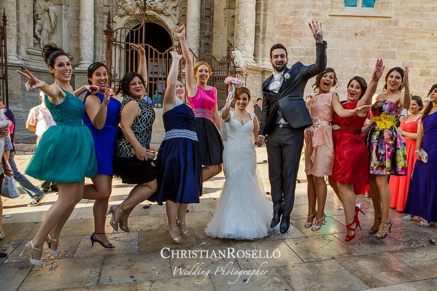 Reportaje Boda en La Capilla del Santo Caliz de Valencia, Laura y Juan Fran. Christian Roselló Fotógrafo de Bodas con sede en Valencia.