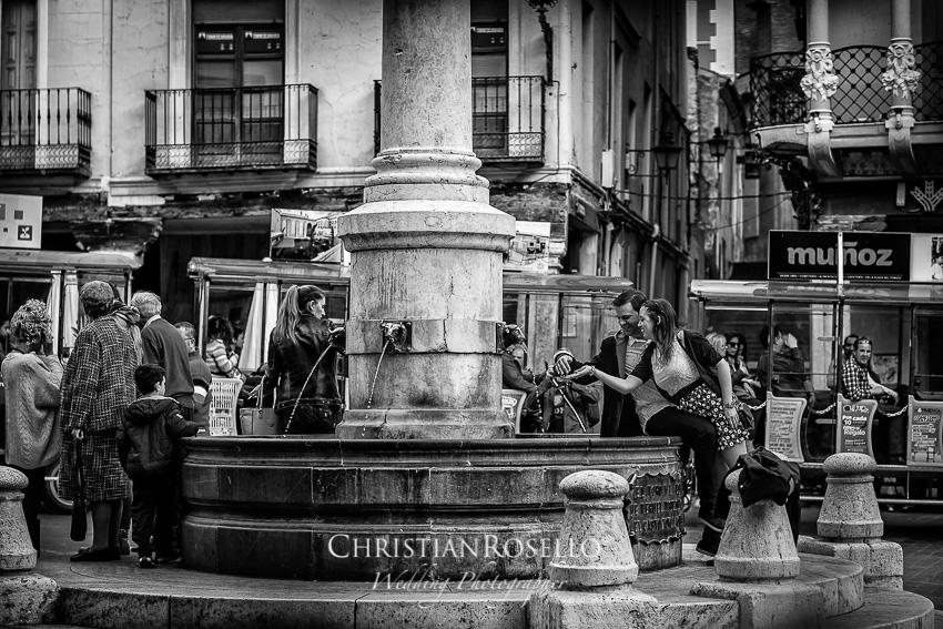 Pre Boda en Teruel, Plaza del Torico, Mª Jesus y Oscar. Christian Roselló Fotografo de Bodas en Teruel, con sede en Valencia