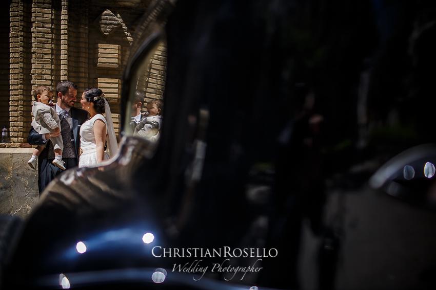 Boda en Finca el Marqués de Sara y Javi en Zuera Zaragoza. Iglesia de la Mantería. Christian Roselló Fotógrafo de Bodas en Zaragoza con sede en Valencia.