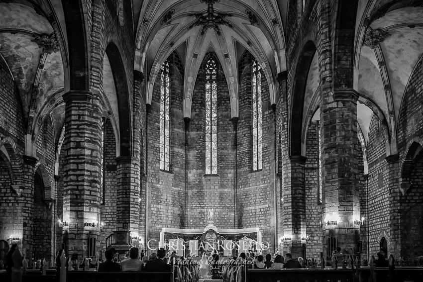 Iglesía de Sta. María Sagunto, Boda en Jardines La Hacienda El Puig Valencia, Laura y Salva. Christian Roselló Fotógrafo de Bodas con sede en Valencia