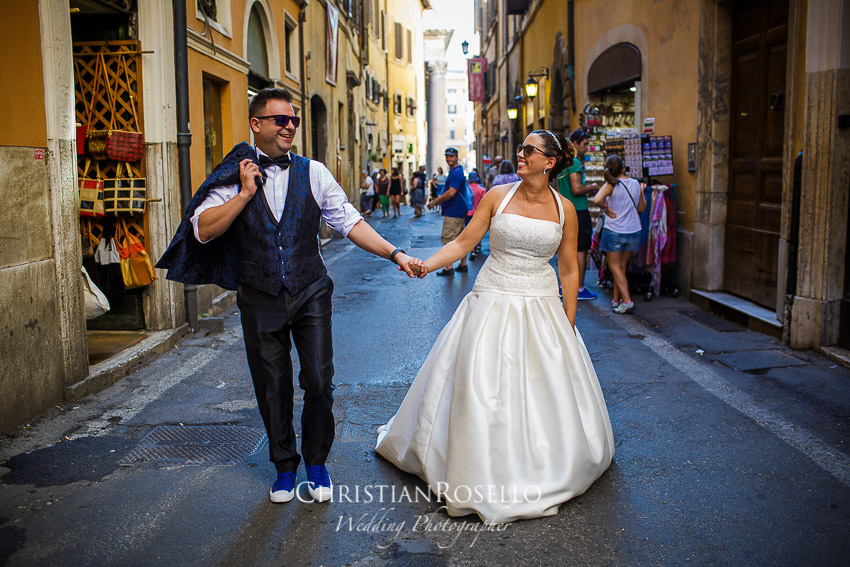 Post Boda en Roma, Via del Seminario, Mª Jesús y Oscar. Christian Roselló, Wedding Photographer in Rome, based in Valencia Spain