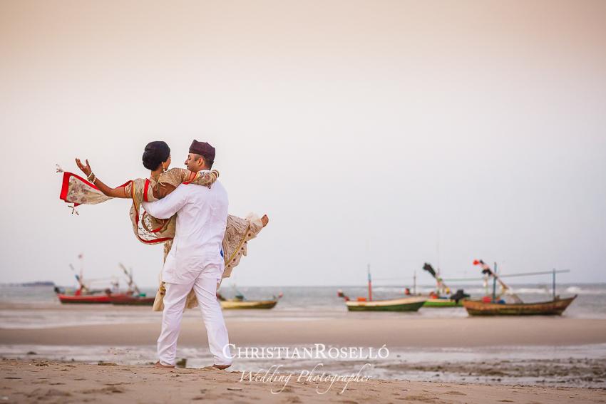 Reportaje de Boda en Tailandia Krishna y Burzin. Christian Rosello Fotógrafo de Bodas Internacional con sede en Valencia España.