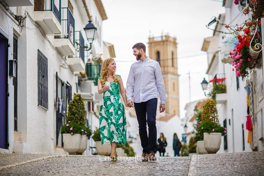 Pre Boda en Altea Alicante Carla y Toni. Christian Roselló Fotógrafo de Bodas en Alicante, con sede en Valencia.