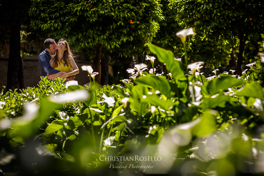 Reportaje Pre Boda en Valencia Rosa y Rubén, Jardines de Montfort Valencia. Christian Roselló Fotógrafo de Bodas con sede Valencia.