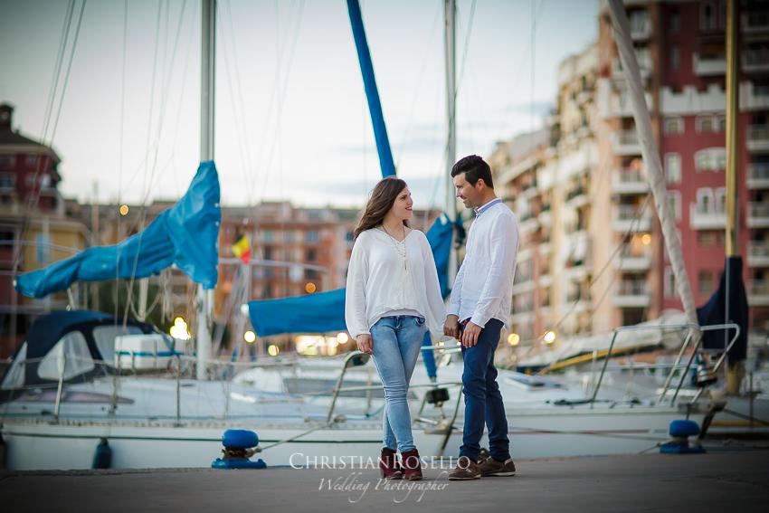Pre Boda en Valencia Olga y David, Port Saplaya Alboraya. Christian Roselló Fotógrafo de Bodas nacional e internacional con sede en Valencia.