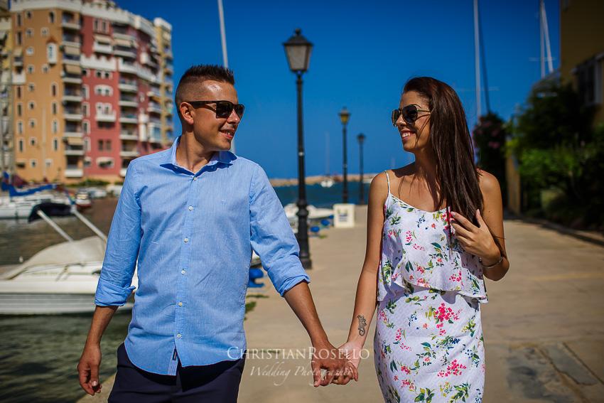 Pre Boda en la Playa del Saler Estefanía e Iván. Port Saplaya Alboraya. Christian Roselló Fotógrafo de Bodas en Valencia.