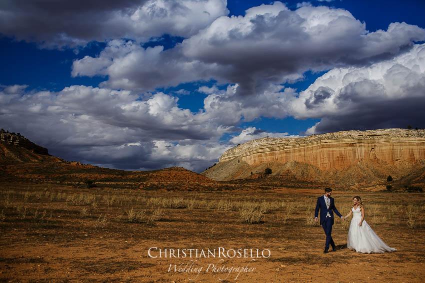 Reportaje Post Boda en Teruel Carla y Toni. Rambla Barrachina Teruel. Christian Roselló Fotógrafo de Bodas nacional e internacional con sede en Valencia.